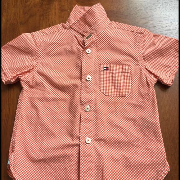 Tommy Hilfiger Other - Tommy Hilfiger orange check shirt excellent sz 3T